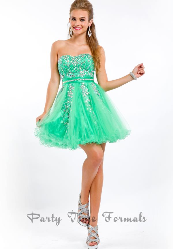 Party Time Beaded Short Dress 6462