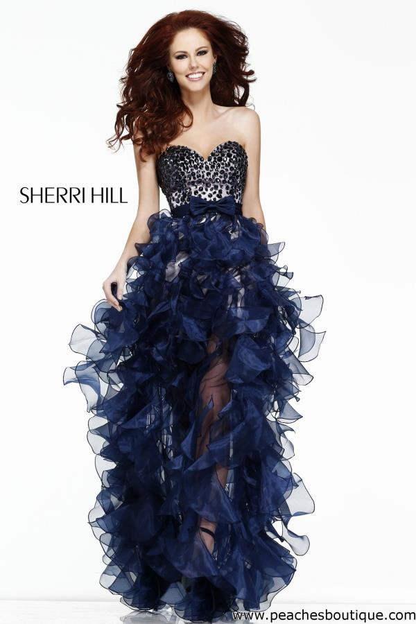 Sherri Hill Ruffled Skirt Dress 21158