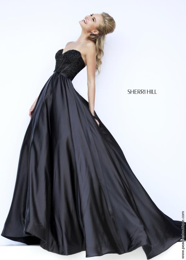A-Line Sherri Hill Satin Dress 32084