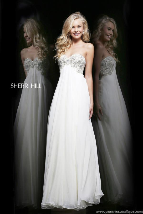 Sherri Hill Aqua A-Line Prom Dress 3903