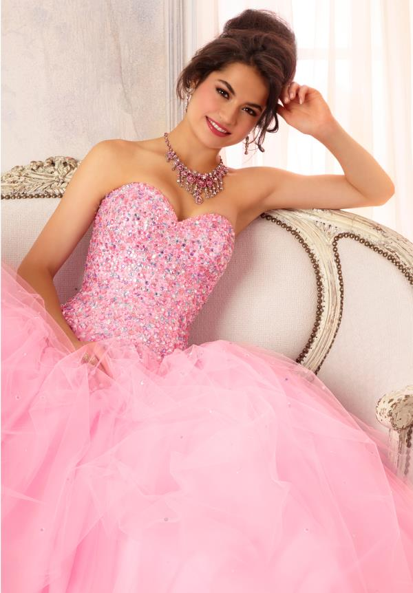 Vizcaya Quinceanera Tulle Skirt Dress 88084