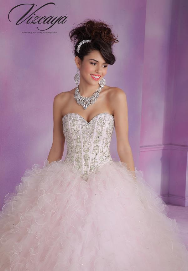 Vizcaya Quinceanera Corset Bodice Dress 89005