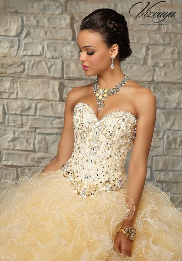 Vizcaya Ruffled Skirt Quinceanera Dress 89024