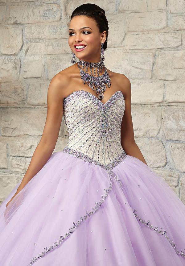 Vizcaya Lace Back Bodice Quinceanera Dress 89025