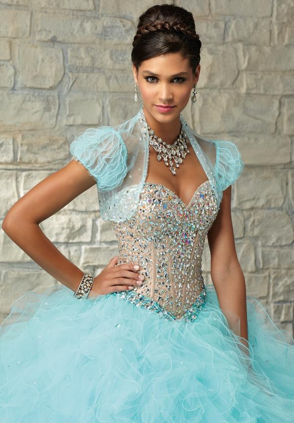 Vizcaya Quinceanera Tulle Skirt Ball Gown 89030