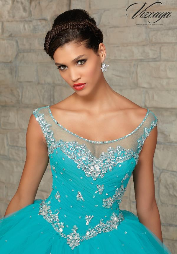 Vizcaya Sleeved Quinceanera Dress 89031