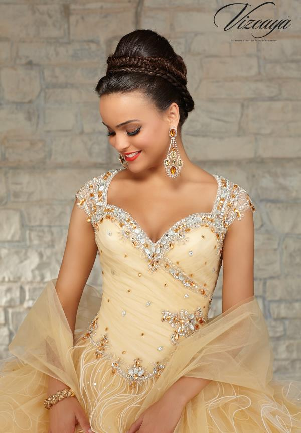 Vizcaya Ruched Bodice Quinceanera Dress 89033