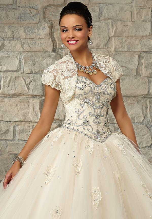 Tulle Skirt Vizcaya Quinceanera Dress 89034