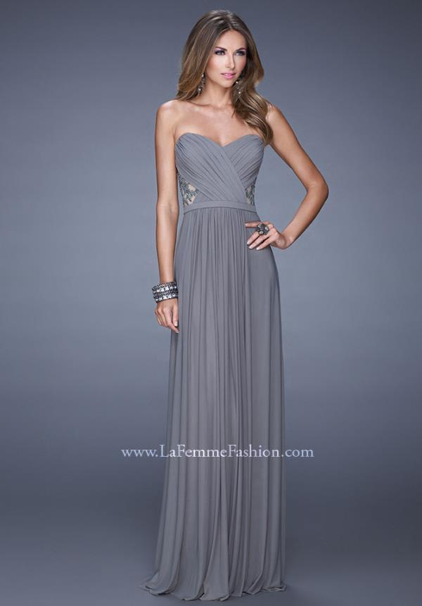 Strapless Sweetheart La Femme Dress 20718