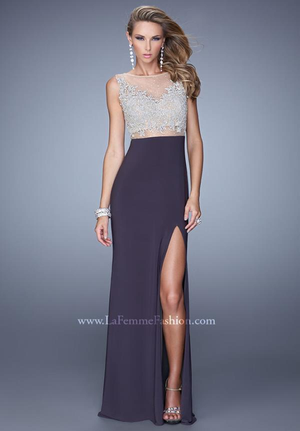 La Femme High Neckline Dress 21303