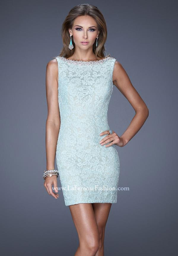 La Femme High Neckline Dress 20506