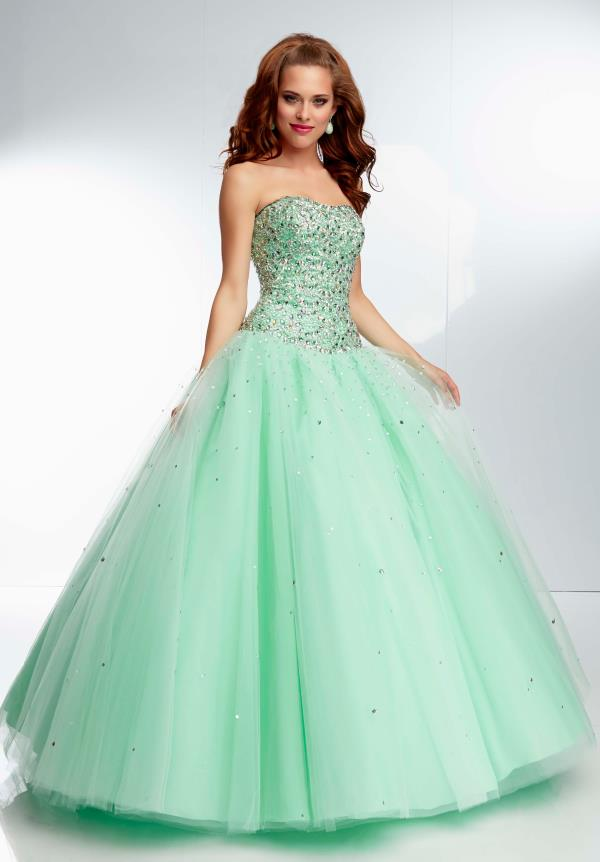 Mori Lee Sequins Bodice Prom Dress 95078