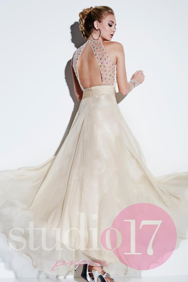 Studio 17 Open Back Prom Dress 12498