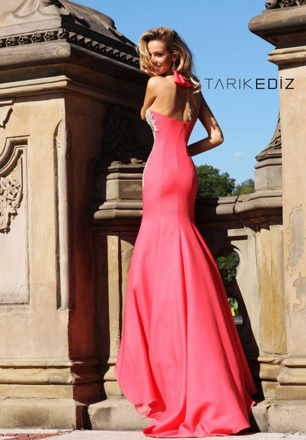 Tarik Ediz Beaded Bodice Dress 92048