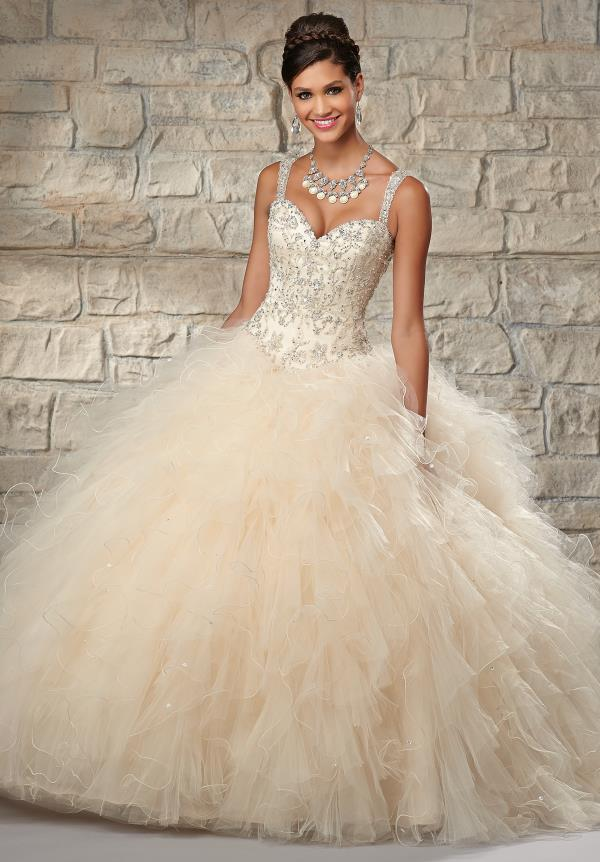 Vizcaya Tulle Ruffled Skirt Quinceanera Dress 89027