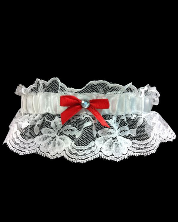 Red Vibrant Stretch Lace Prom Garter