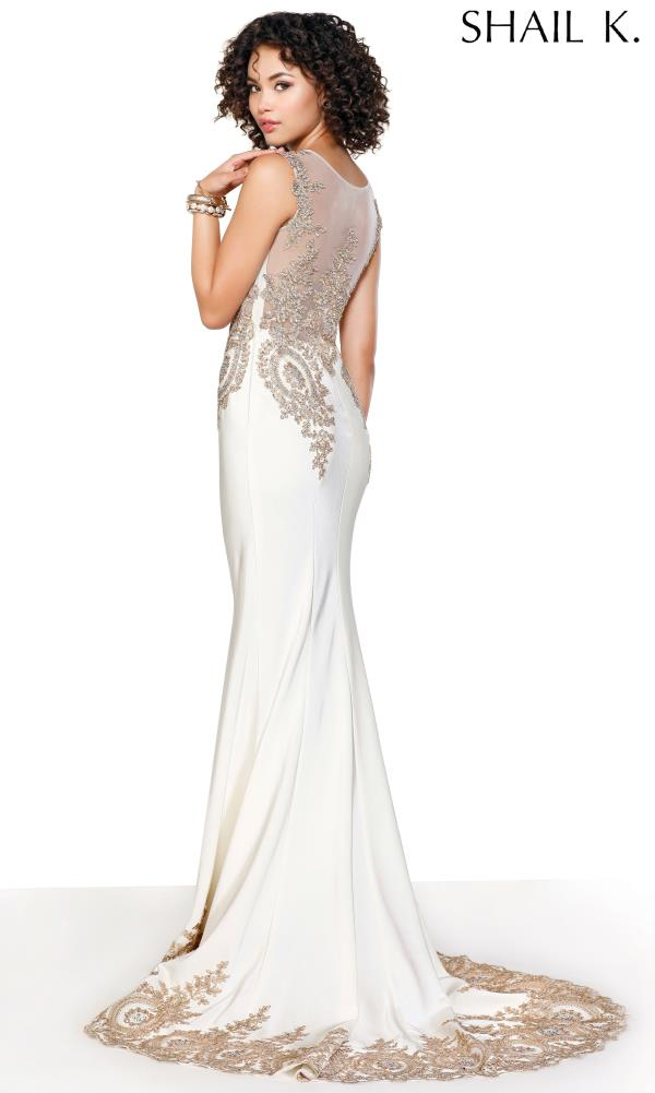Shail K Beaded Evening Dress 3912