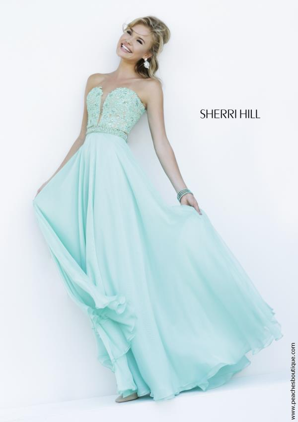 Sherri Hill A Line Chiffon Prom Dress 32180