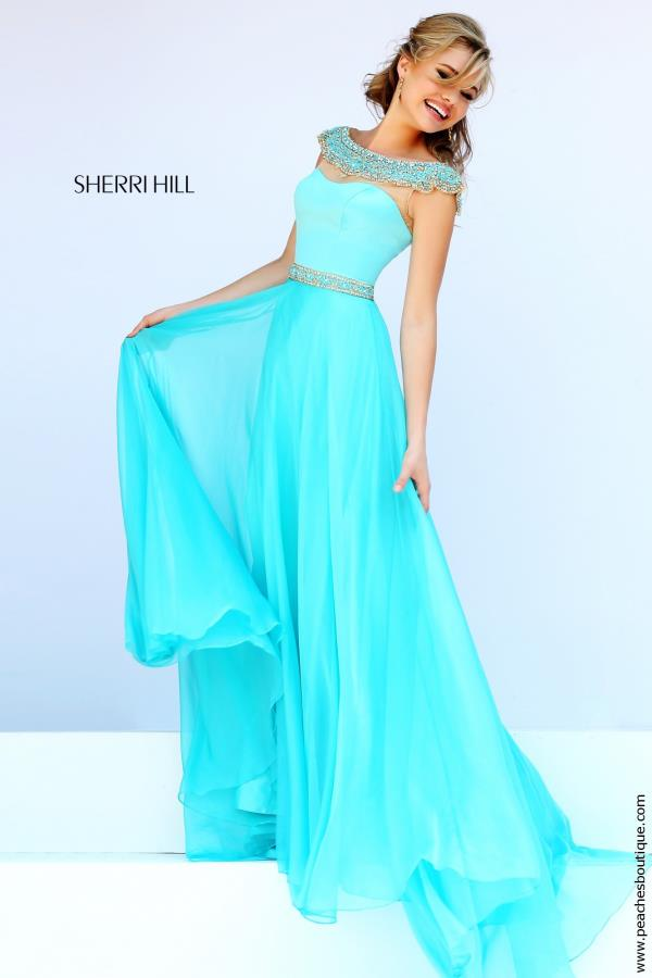 Cap Sleeved A Line Sherri Hill Dress 32220
