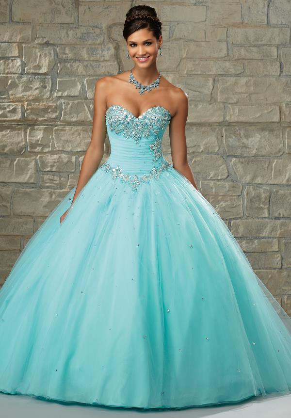 Vizcaya Tulle Skirt Quinceanera Dress 89028