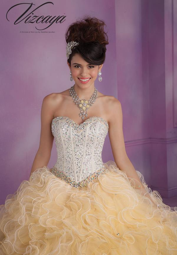 Vizcaya Quinceanera Ruffle Skirt Dress 89016