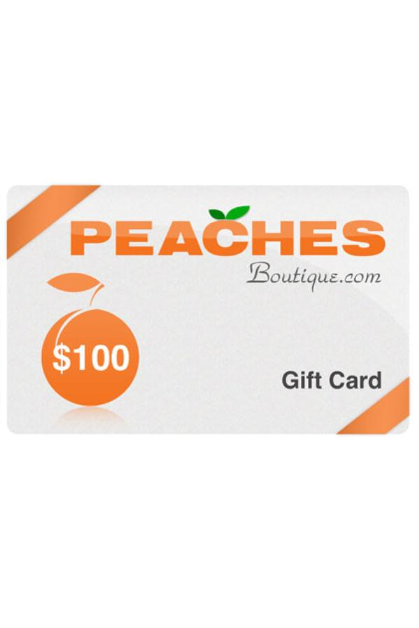 $100 Peaches Boutique Gift Card