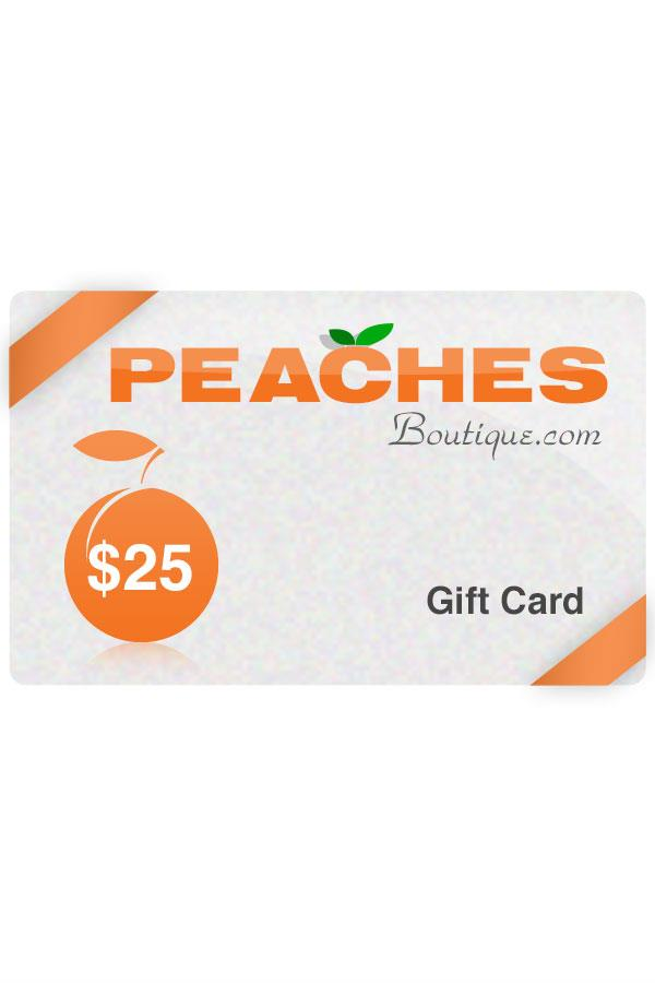 $25 Peaches Boutique Gift Card
