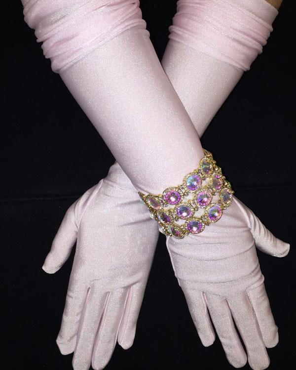 Light Pink Long Chic Matte Gloves