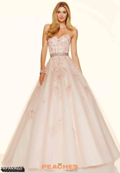 Strapless Sweetheart Mori Lee Prom Dress 98018