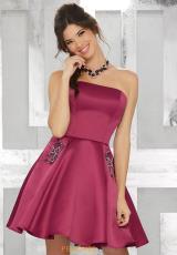 a5a2f6f8fd MoriLee Sticks   Stones Strapless Dress 9451. Black  Black  Black Cherry ...