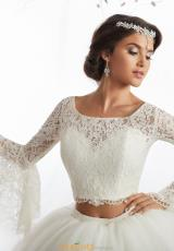 160b838fc20 Tiffany Quince Two Piece Beaded Dress 26876. Misty Rose  Ivory  Ivory ...