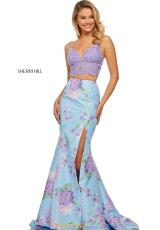 Lilac/Light Blue Print