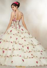 22ee789c2d9 Vizcaya Quinceanera Floral Ball Gown 34008. Champagne  Champagne   Champagne  Sangria ...