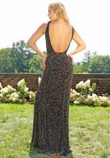 c6aba904089 Primavera V- Neckline Fitted Prom Dress 3205. Ivory  Black Multi  Black  Multi ...