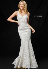 91aeca8e949 Sherri Hill Lace Fitted Dress 51571. Ivory  Ivory  Ivory  Ivory