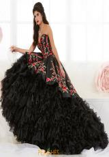 83f4d8d8035 Tiffany Quinceanera Satin Corset Gown 26892. Ivory Multi  Black Multi   Black Multi ...