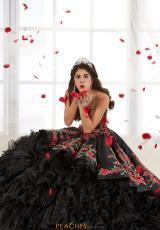 80ea13f7599 Tiffany Quinceanera Satin Corset Gown 26892. Ivory Multi  Black Multi   Black Multi  Black Multi ...