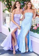 Lilac and Light Blue