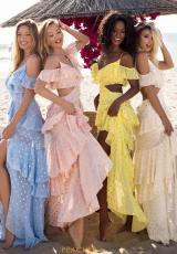 Ice Blue, Pink, Yellow, Ivory