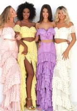 Pink, Yellow, Lilac, Ivory