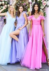 Light Blue, Lilac, Pink