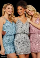 Light Blue, Silver, Light Pink