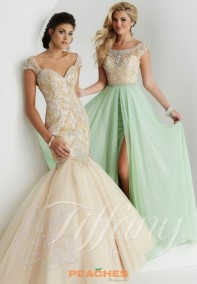 Mint (the dress on the right)