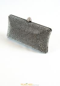 BlackRhinestoneFormalClutch