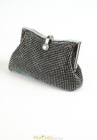 Black Mesh Evening Clutch
