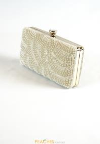 Pearl Gold Prom Clutch
