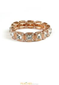 SB3021 Rose Gold and Silver Stretchable Bracelet