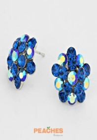 RoyalBlueBurstEarrings