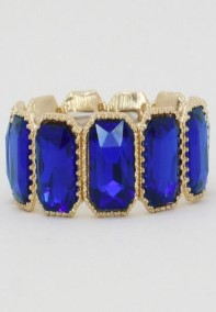 Gold Base with Royal Blue Stones