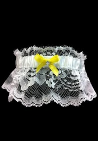 YellowLacePromGarter